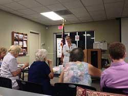 Susan Alverio teaches members of H2U